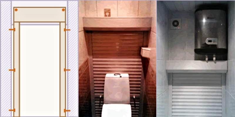 При упоре конструкции в потолок или другой ограничитель монтаж фактически является комбинированным